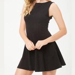 BNWT black fit & flare mini dress